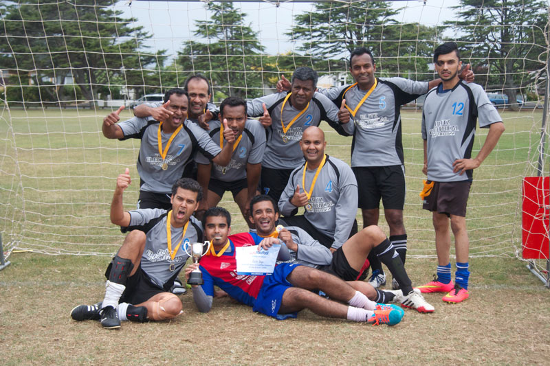Bula Boyz celebrate their victory at the inter-competition playoffs